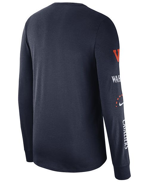 df33a8013231 Nike Men s Virginia Cavaliers Long Sleeve Basketball T-Shirt ...