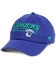 Authentic NHL Headwear Vancouver Canucks Rinkside Fundamental Adjustable Cap