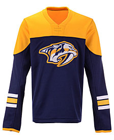 Outerstuff Nashville Predators Defenseman Fleece Sweatshirt, Big Boys (8-20)