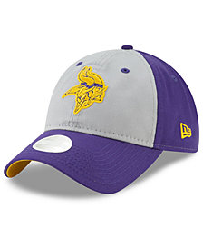 New Era Women's Minnesota Vikings Gray Glitter 9TWENTY Cap