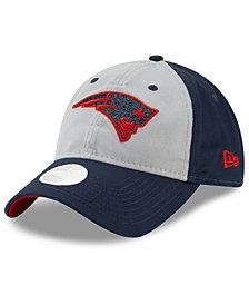 New Era Women's New England Patriots Gray Glitter 9TWENTY Cap