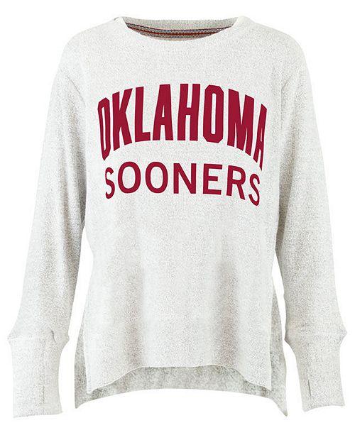 Pressbox Women's Oklahoma Sooners Cuddle Knit Sweatshirt