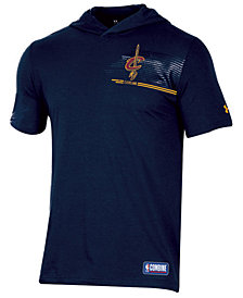 Under Armour Men's Cleveland Cavaliers Baseline Short Sleeve Hooded T-Shirt