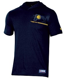 Under Armour Men's Indiana Pacers Baseline Short Sleeve Hooded T-Shirt