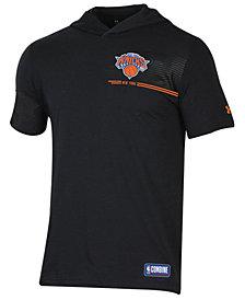 Under Armour Men's New York Knicks Baseline Short Sleeve Hooded T-Shirt