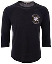 Authentic NFL Apparel Men s Pittsburgh Steelers End Around Three-Quarter  Raglan T-Shirt bcc4ec08f