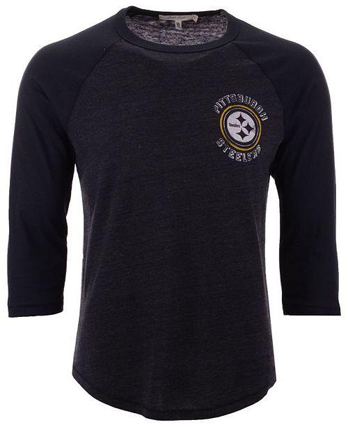 promo code 8a3c9 51bce Men's Pittsburgh Steelers End Around Three-Quarter Raglan T-Shirt