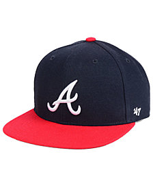'47 Brand Boys' Atlanta Braves Basic Snapback Cap