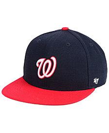 '47 Brand Boys' Washington Nationals Basic Snapback Cap