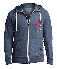New Era Men's Atlanta Braves Sueded Full-Zip Hoodie
