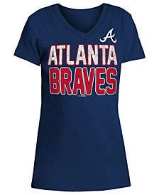 5th & Ocean Atlanta Braves Glitter Gel Team T-Shirt, Girls (4-16)