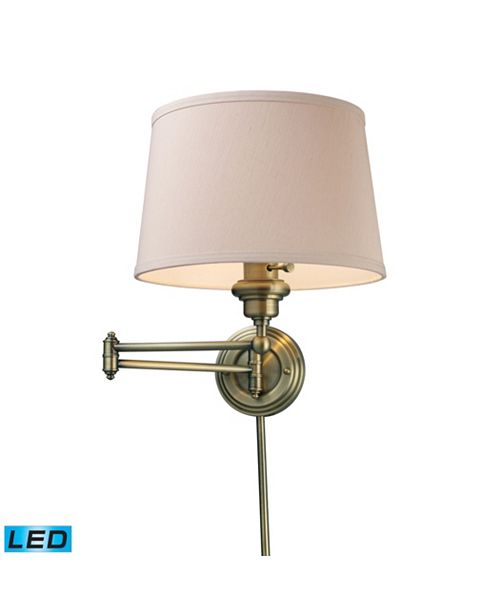 ELK Lighting D Westbrook 1-Light Swingarm sconce in Antique Brass