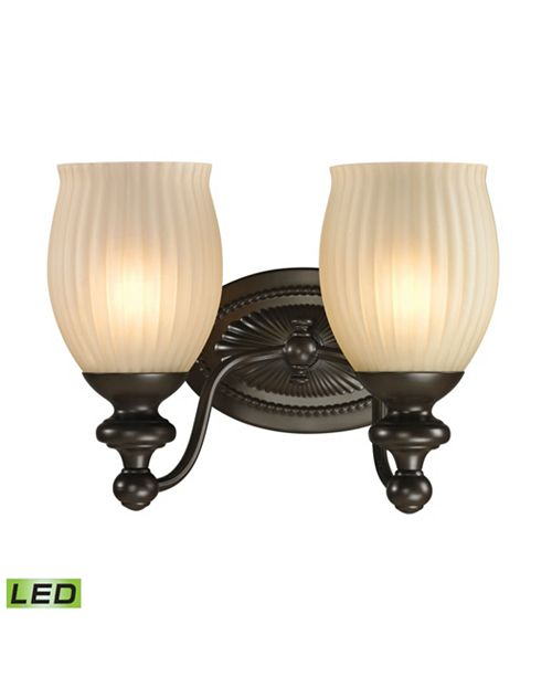 ELK Lighting Park Ridge Collection 2 light bath in Oil Rubbed Bronze - LED, 800 Lumens (1600 Lumens Total) With