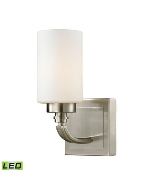 ELK Lighting Dawson Collection 1 light bath in Brushed Nickel - LED Offering Up To 800 Lumens (60 Watt Equivalent)