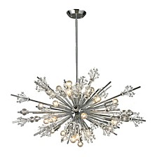 Starburst Collection 24 light chandelier in Polished Chrome