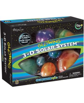 Glowing 3-d Solar System