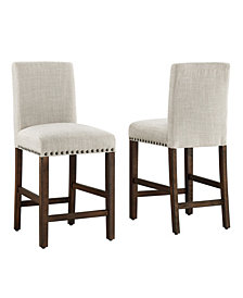 Madrid Nail Head Counter Stool, 2 Pack