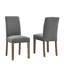 Madrid Nail Head Dining Chair, 2 Pack
