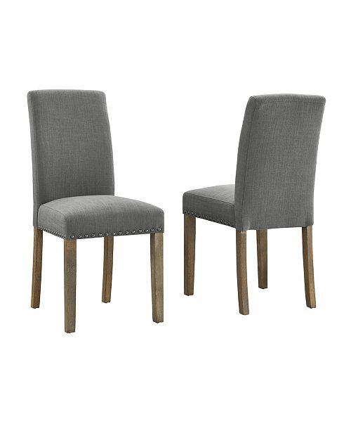 Wondrous Dwell Home Inc Madrid Nail Head Dining Chair 2 Pack Machost Co Dining Chair Design Ideas Machostcouk