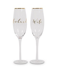 Toasting Champagne Glasses- Just Married