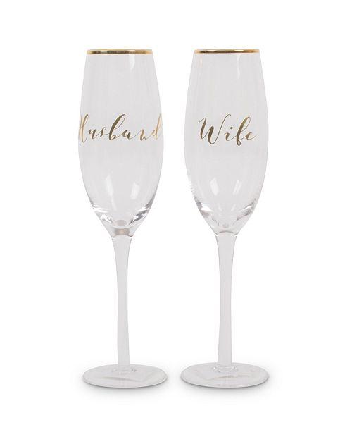 8 Oak Lane Toasting Champagne Glasses- Just Married