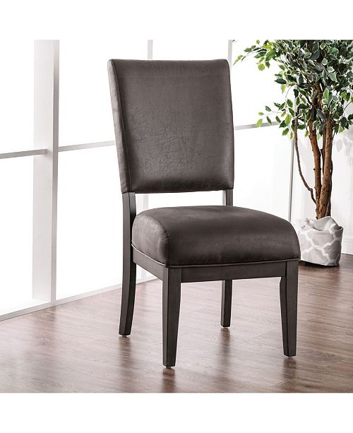 Furniture of America Vernoa Leatherette Upholstered Dining Chair (Set of 2)