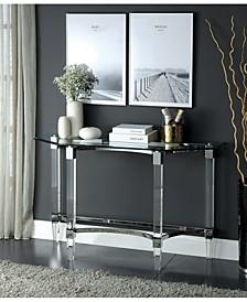 Jourdan Glass Top Sofa Table
