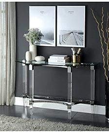 Jourdan Clear Acrylic and Glass Sofa Table