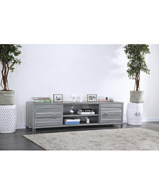 Huffman Industrial Metal Two-Cabinet TV Stand
