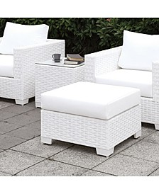Arthur White Outdoor Small Ottoman
