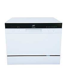 SPT Countertop Dishwasher with Delay Start & LED - White