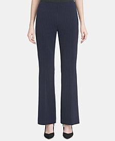 Calvin Klein Pinstripe Wide-Leg Pants