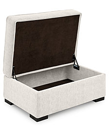 "Radley 36"" Fabric Chair Bed Storage Ottoman"