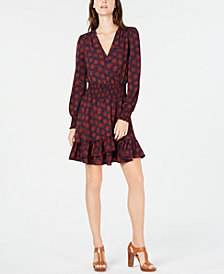 MICHAEL Michael Kors Printed Fit & Flare Dress, In Regular & Petite Sizes