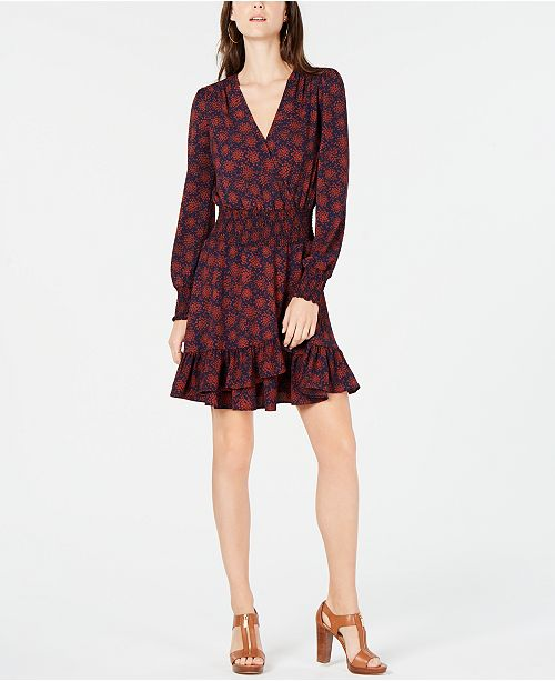 497b7ed457d ... Michael Kors Printed Fit   Flare Dress