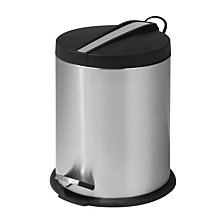 Honey Can Do 5L Round Step Can with Stainless Steel Insert