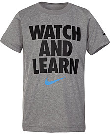 Nike Little Boys Learn-Print T-Shirt