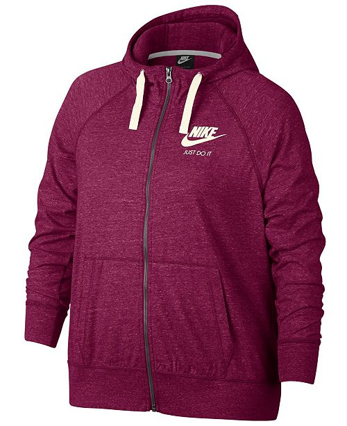 f728eb3d383 Nike Gym Vintage Full-Zip Hoodie   Reviews - Tops - Women - Macy s