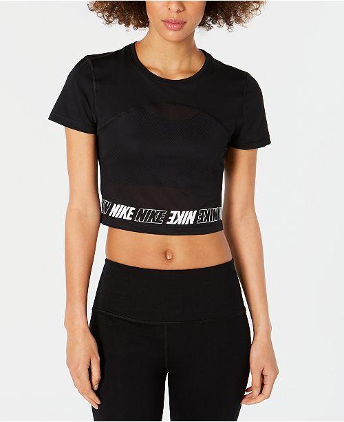 Nike Pro Logo Cropped T-Shirt
