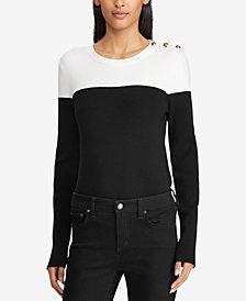 Lauren Ralph Lauren Button-Trim Sweater