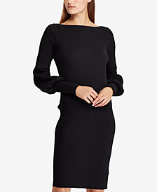 Lauren Ralph Lauren Puff-Sleeve Shirtdress