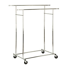 Honey Can Do Dual Bar Adjustable Garment Rack