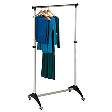 Honey Can Do Modern Adjustable Rolling Garment Rack