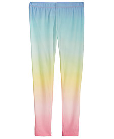 Epic Threads Big Girls Rainbow Ombré Leggings, Created for Macy's