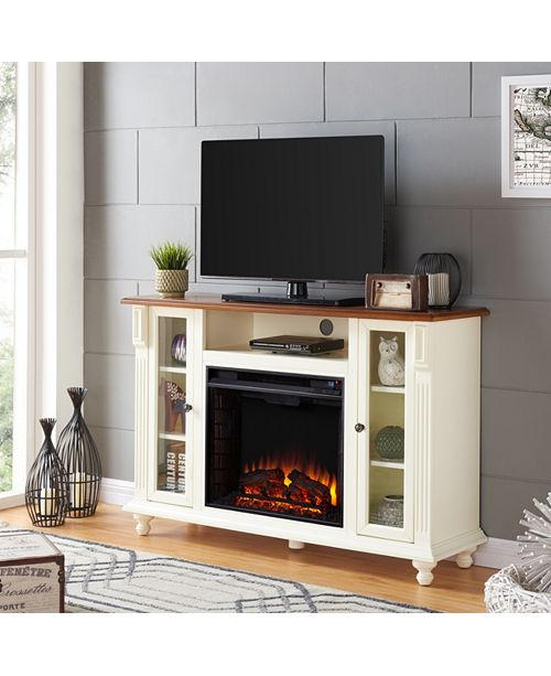 Southern Enterprises Chelmsford Fireplace TV Stand, Quick Ship