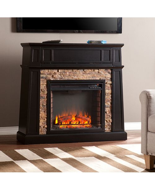 Southern Enterprises Carabella Fireplace, Quick Ship