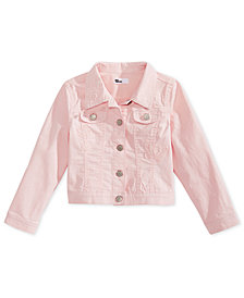 Epic Threads Little Girls Crochet-Trim Denim Jacket, Created for Macy's