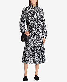 Lauren Ralph Lauren Floral-Print Georgette Midi Dress