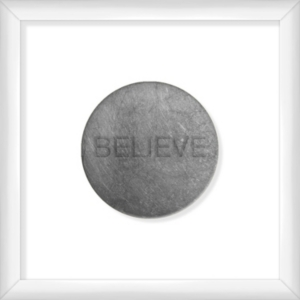 Living 31 Believe Silver Decorartive Wall Art