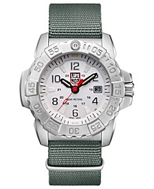 Men's 3257 Navy Seal Stainless Green Nylon Strap Watch